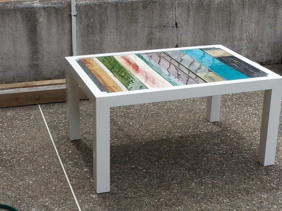 Table basse palette design par mirepoix designs sur l 39 air - Table salon palette ...