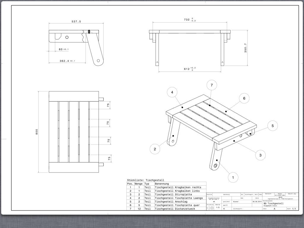 table banc bois