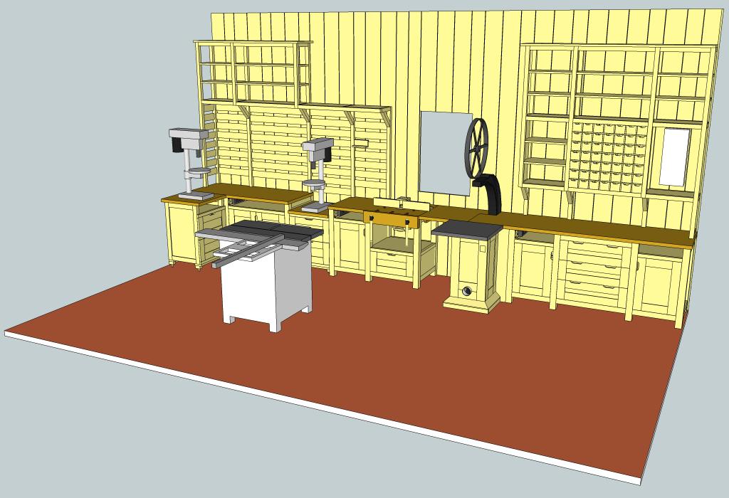 Plan atelier de menuiserie par zeloko sur l 39 air du bois - Plan d atelier de bricolage ...