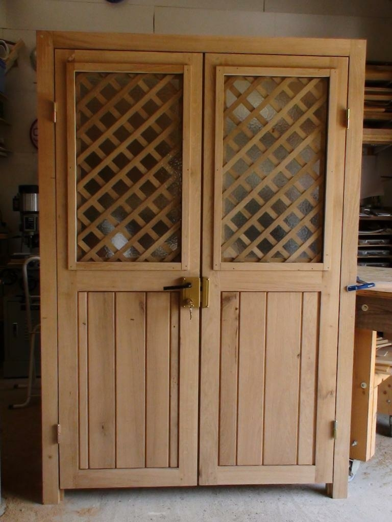 Porte double en ch ne par besusbois60 sur l 39 air du bois - Porte a claire voie ...