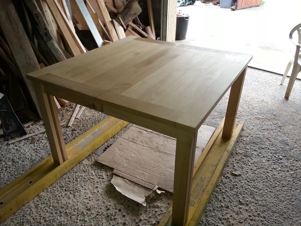 Table hetre a rallonge par step sur l 39 air du bois - Table en hetre ...