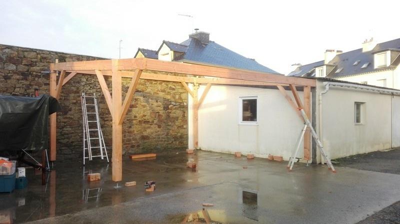 montage carport bois
