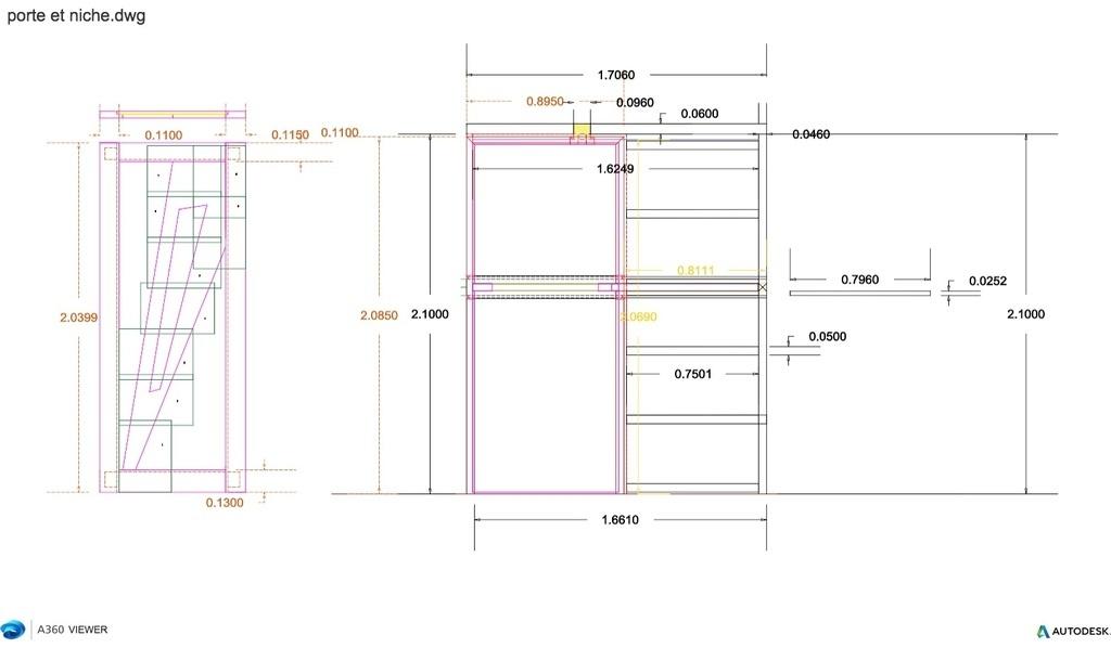 plan porte galandage en ch ne par trichet85 sur l 39 air du bois. Black Bedroom Furniture Sets. Home Design Ideas