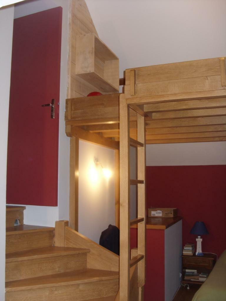 Escalier avec mezzanine par riquet18x4 sur l 39 air du bois for Amenagement d une chambre