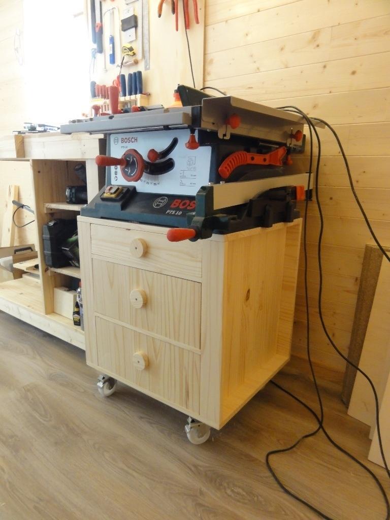 Video fabrication meuble pour scie sur table table de lit - Fabriquer table scie circulaire ...