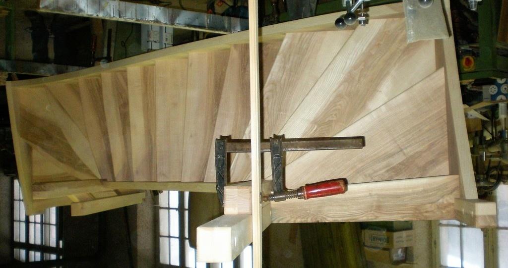 Pas pas escalier quartier tournant bas et haut en fr ne olivier par kajmed sur l 39 air du bois - Ouverture tremie plancher bois ...