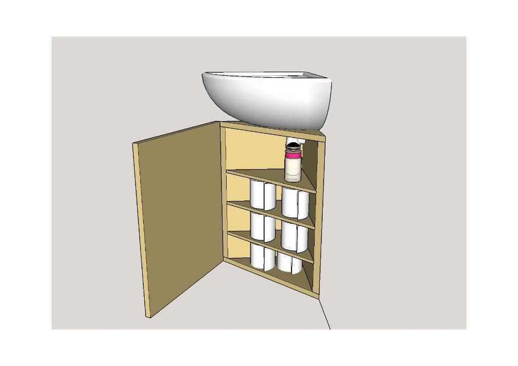 Plan meuble vasque wc angle par tacoule38 sur l 39 air du bois for Meuble vasque angle