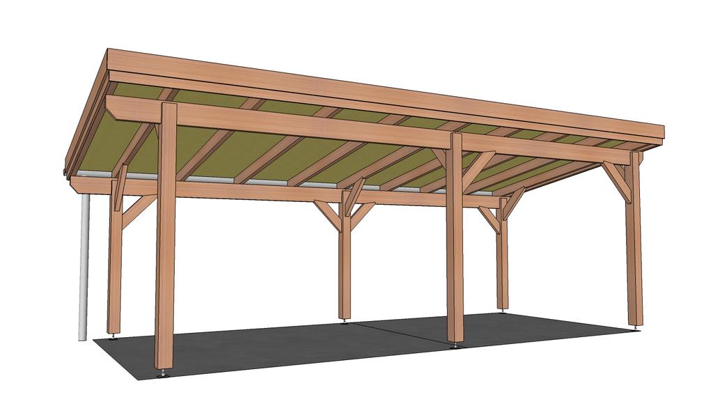 plan pergola couverte par titimaster sur l 39 air du bois. Black Bedroom Furniture Sets. Home Design Ideas