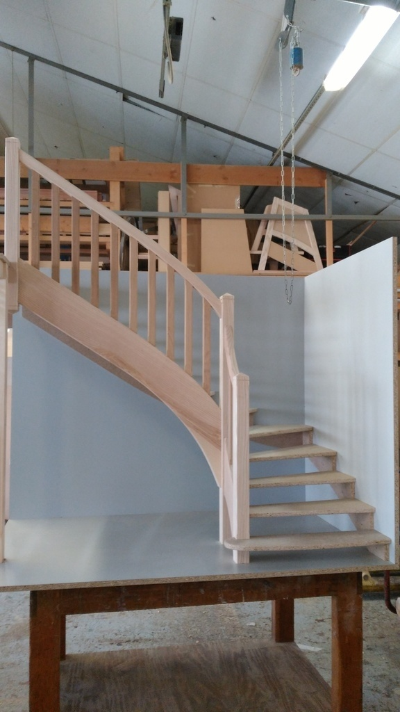 maquette escalier par matthieudesbois sur l 39 air du bois. Black Bedroom Furniture Sets. Home Design Ideas