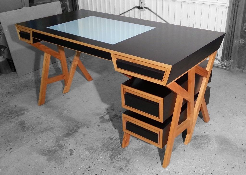 bureau mdf merisier par clement sur l 39 air du bois. Black Bedroom Furniture Sets. Home Design Ideas