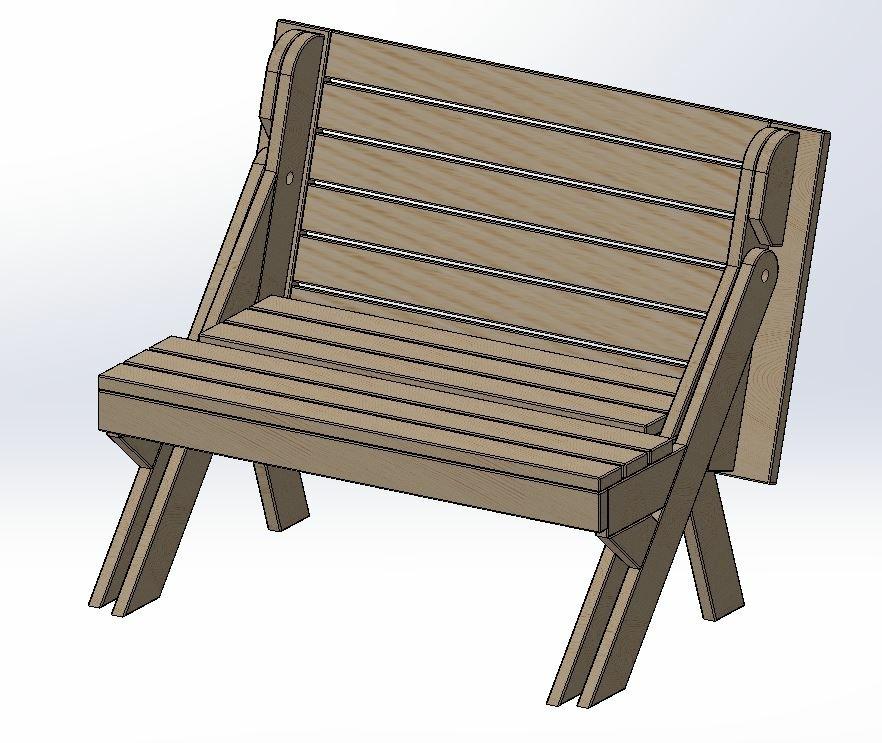Plan banc transformable en table par xavier sur l 39 air du for Table et banc pliant castorama