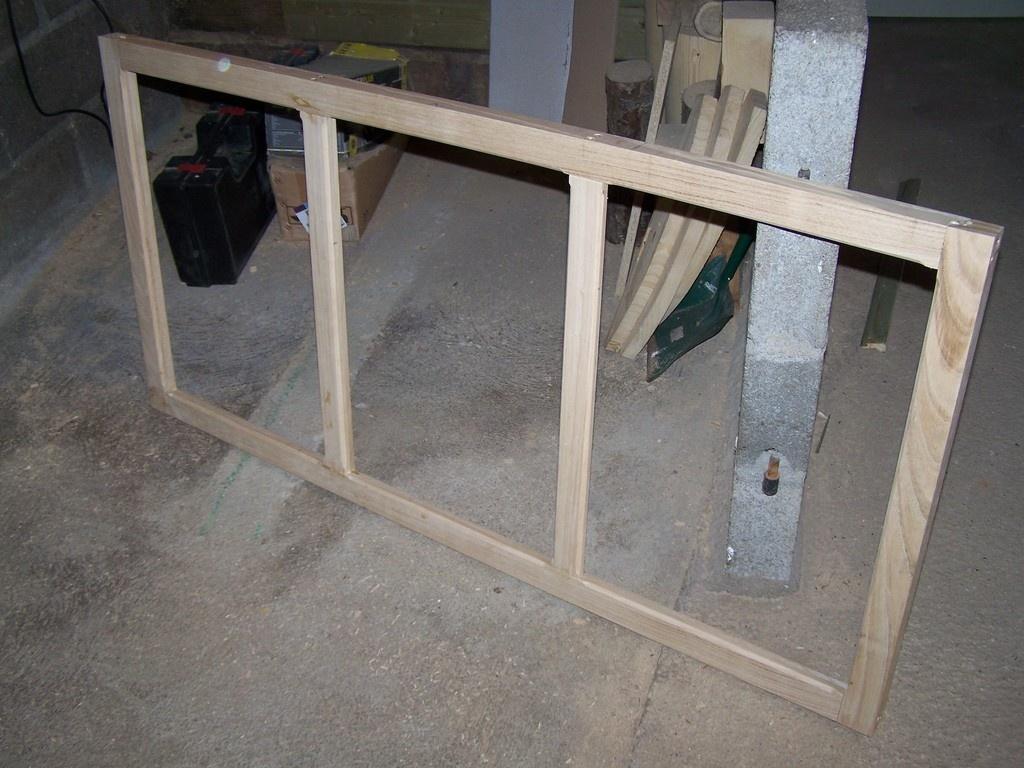 porte en bois vitrée