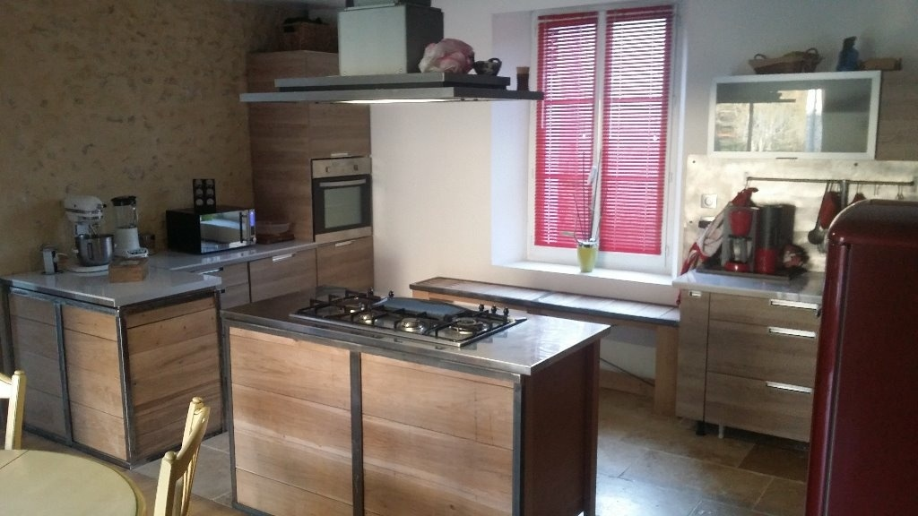 Charmant meuble cuisine en metal 12 habillage pour for Caisson de cuisine en bois