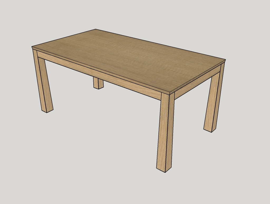 Plan table de s jour allonges tiroirs par zeloko sur l for Plan table en bois