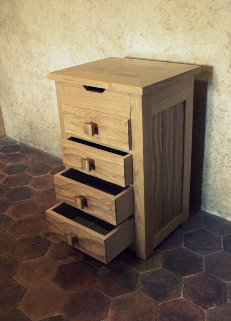 bloc tiroir bois