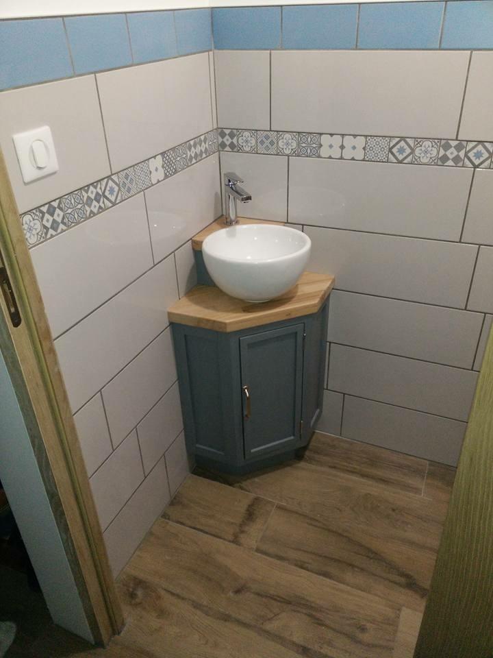 Plan meuble vasque lave mains par jomaro74 sur l 39 air du bois - Meuble vasque lave main ...