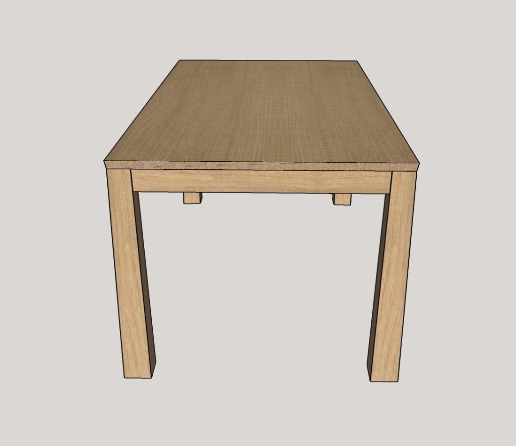 Pas pas fabrication d 39 une table de s jour allonges for Table de sejour rectangulaire avec allonge