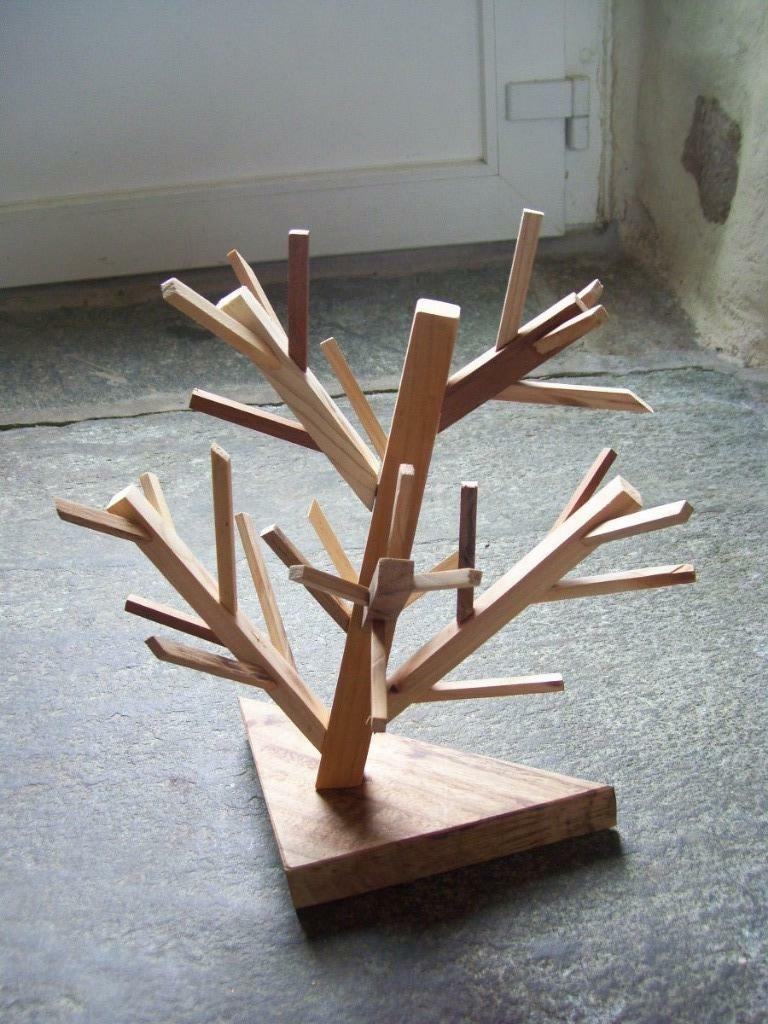 Arbre Decoratif Bois Sculpt Ef Bf Bd