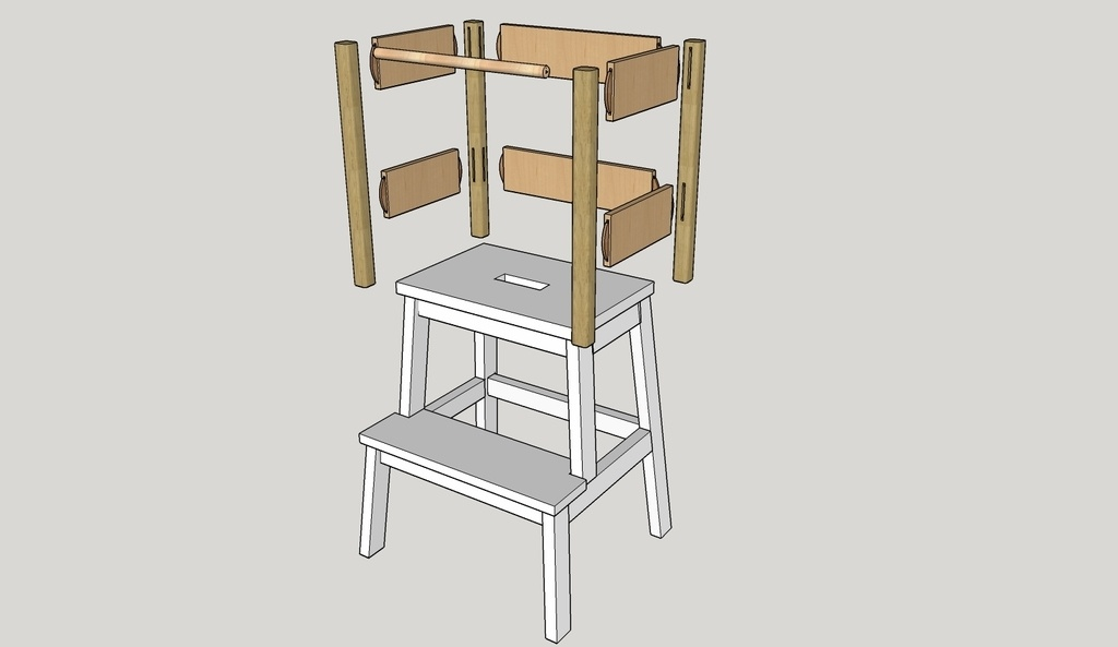 tour d 39 apprentissage ikea hack par schgreg sur l 39 air du bois. Black Bedroom Furniture Sets. Home Design Ideas