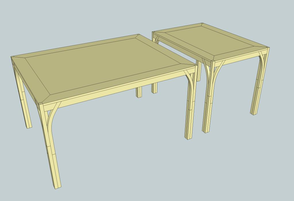 plan duo de tables modulables par zeloko sur l 39 air du bois. Black Bedroom Furniture Sets. Home Design Ideas