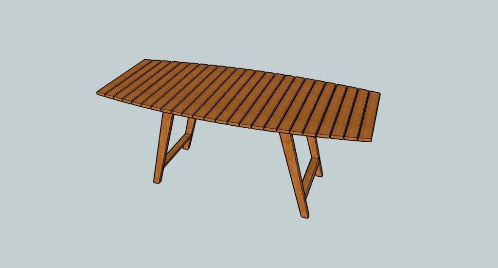 plan table de jardin par reve sur l 39 air du bois. Black Bedroom Furniture Sets. Home Design Ideas