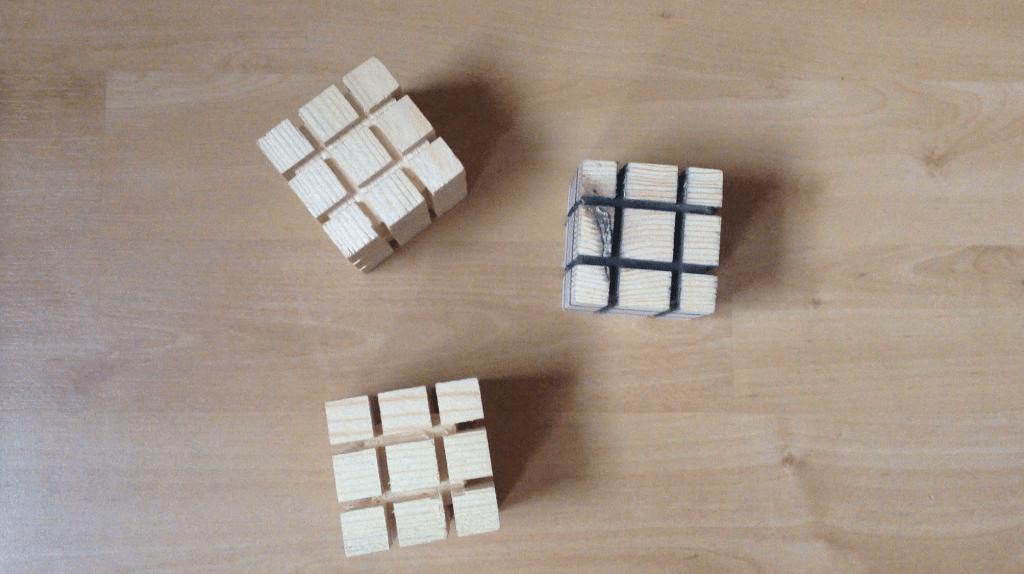 rubik 39 s cube en bois rubik 39 s cube in wood decoration par built for fun sur l 39 air du bois. Black Bedroom Furniture Sets. Home Design Ideas