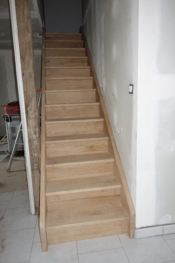 escalier droit par riquet18x4 sur l 39 air du bois. Black Bedroom Furniture Sets. Home Design Ideas