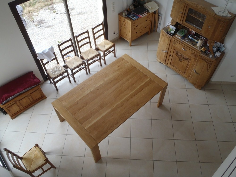 Table contemporaine par david sur l 39 air du bois for Tete de lit fabrication maison