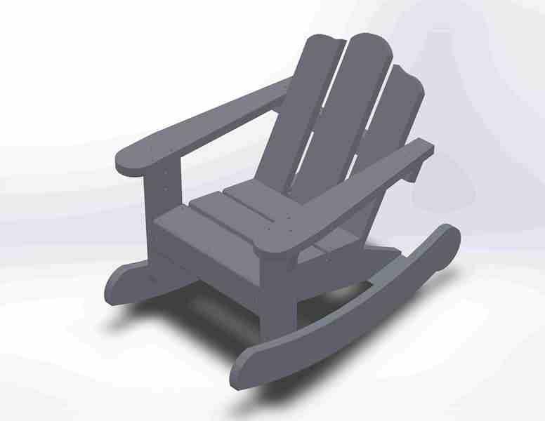 Plan chaise enfant adirondack par jeanco77 sur l 39 air du bois for Chaise adirondack plan