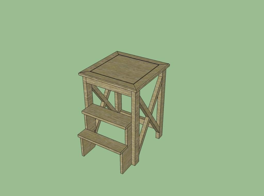 plan tabouret escabeau par dwayne sur l 39 air du bois. Black Bedroom Furniture Sets. Home Design Ideas