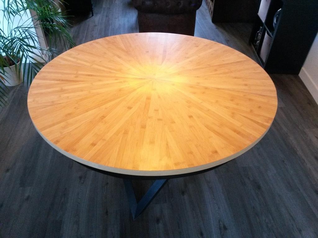 Table Bois Par Sur Ateliera Extensible Ronde Bambou L'air Du PnO0wkN8X