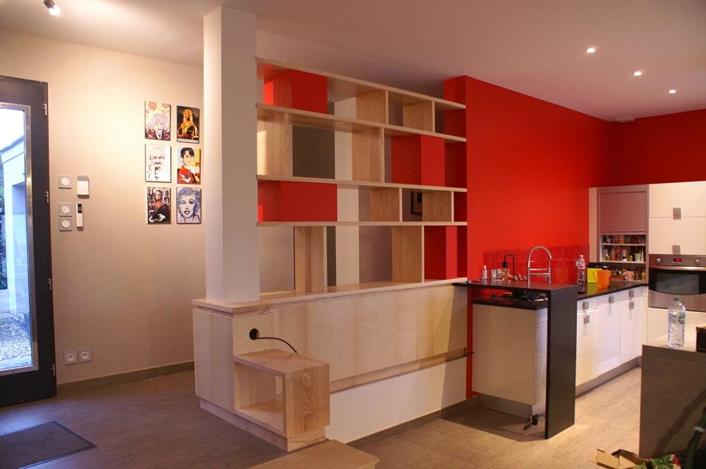 cloison biblioth que et rangements par zeloko sur l 39 air du. Black Bedroom Furniture Sets. Home Design Ideas