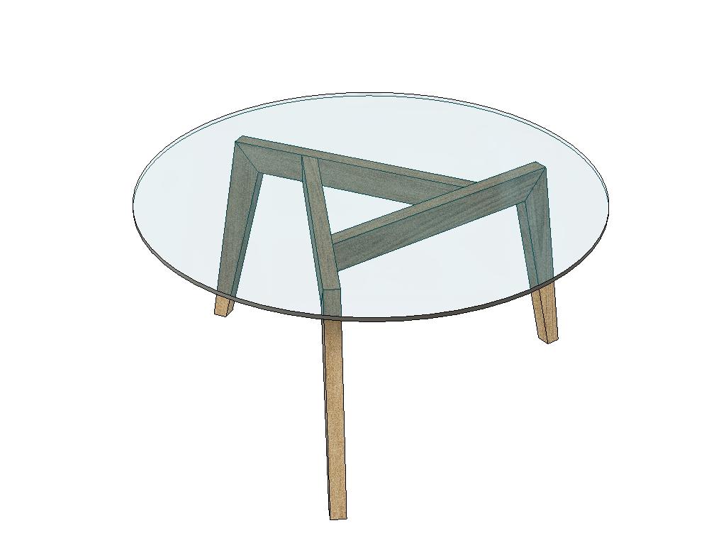 Plan Tables Basses Gigognes A 3 Pieds Avec Plateau Verre