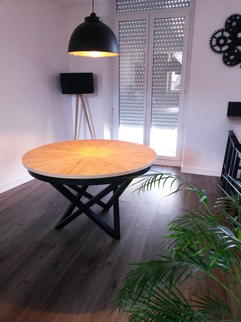 Table Ronde Bambou Extensible Par AtelierA Sur L'Air Du Bois