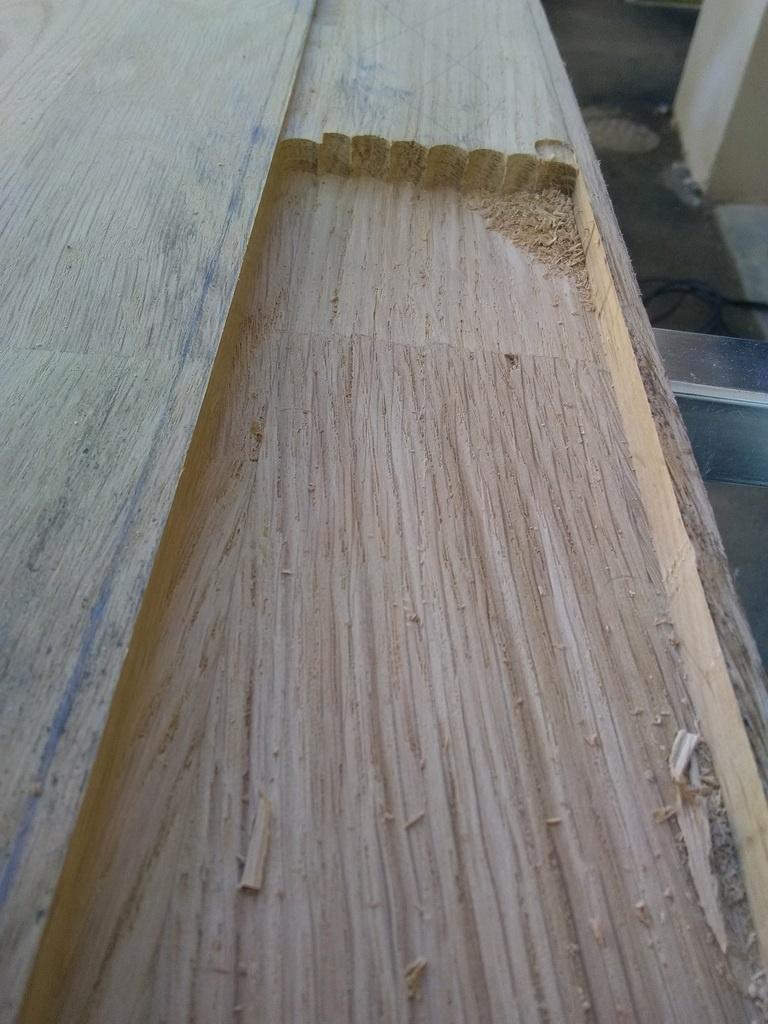 nez de cloison en ch ne lamell coll par hephge sur l 39 air du bois. Black Bedroom Furniture Sets. Home Design Ideas