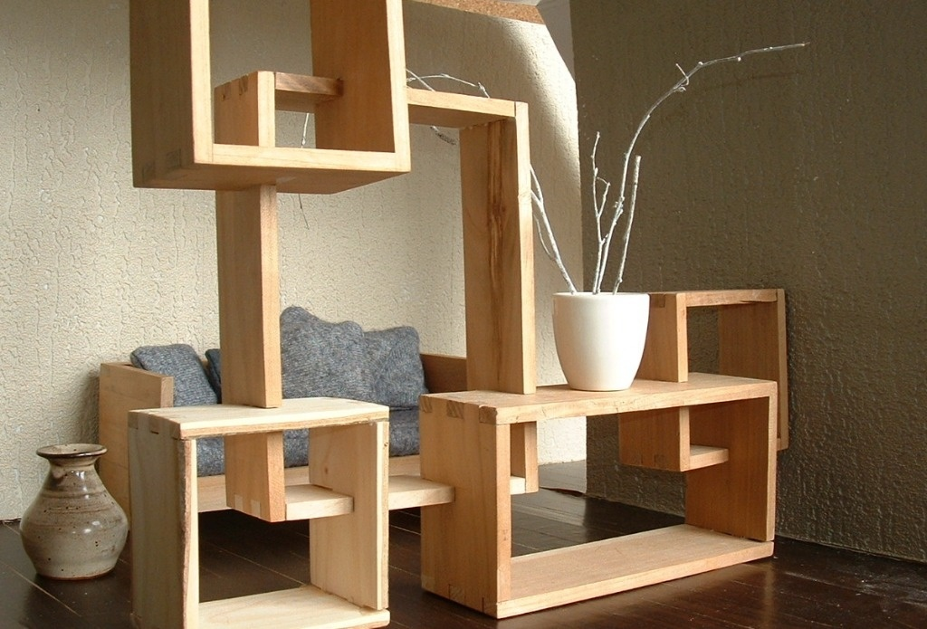 biblioth que modulable en bois massif par sarahlalala sur l 39 air du bois. Black Bedroom Furniture Sets. Home Design Ideas