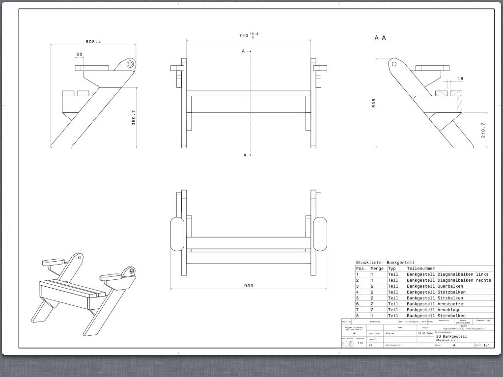 table de jardin bois pliable