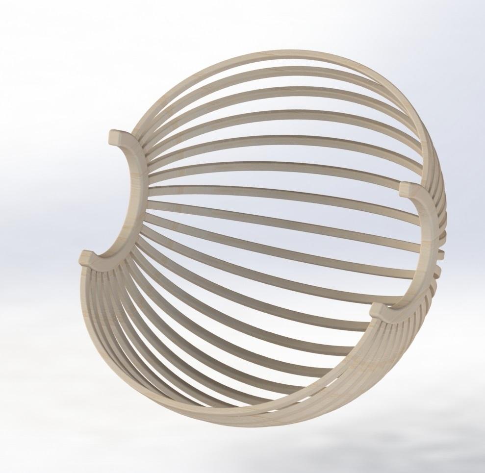 Un fauteuil boule suspendu par toutenbois sur l 39 air du bois - Fauteuil boule suspendu ...