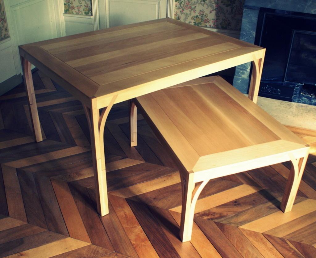 Duo de tables modulables par zeloko sur l 39 air du bois for Table 100x70