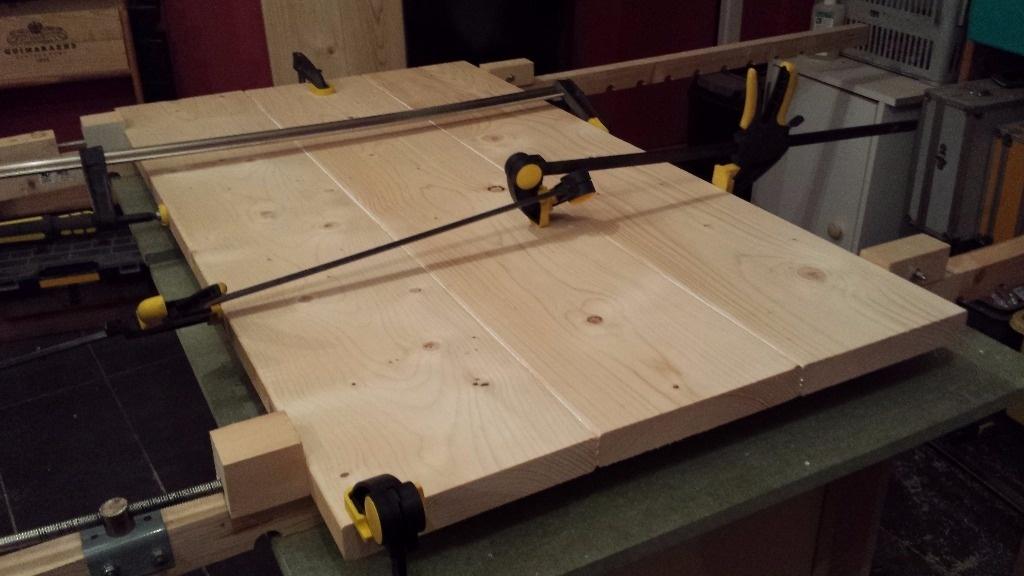 Plan de travail mobile pour cuisine par vic66 sur l 39 air du bois - Plan de travail mobile ...