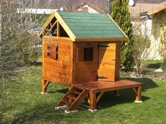 cabane de jardin une pente