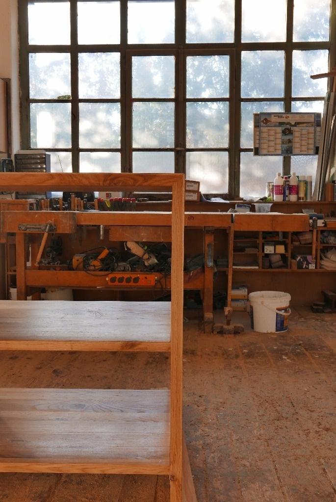 Plan de travail avec tag res par thomas sur l 39 air du bois for Etagere sur plan de travail