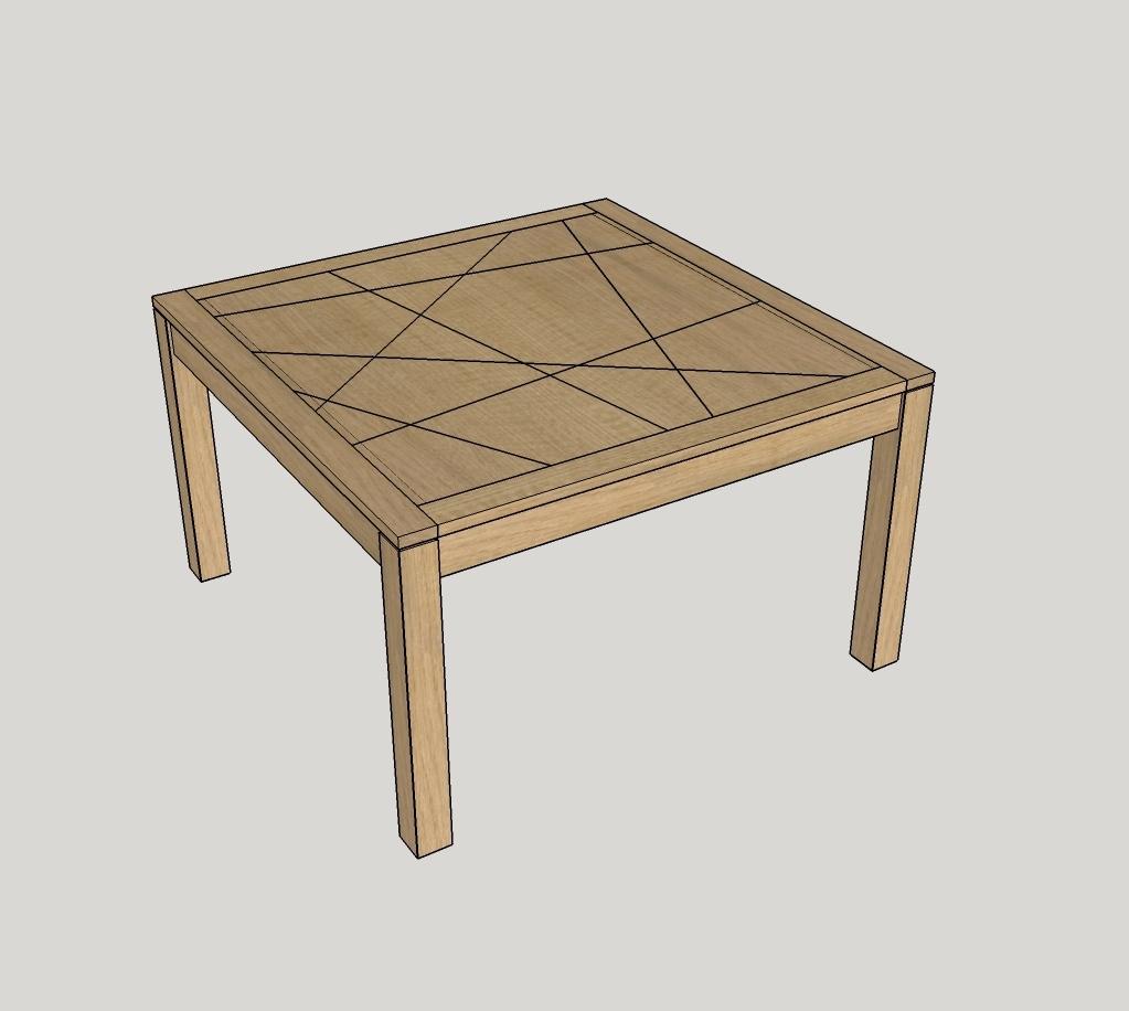 Plan une table carr e extensible par zeloko sur l 39 air du for Table bois carree extensible
