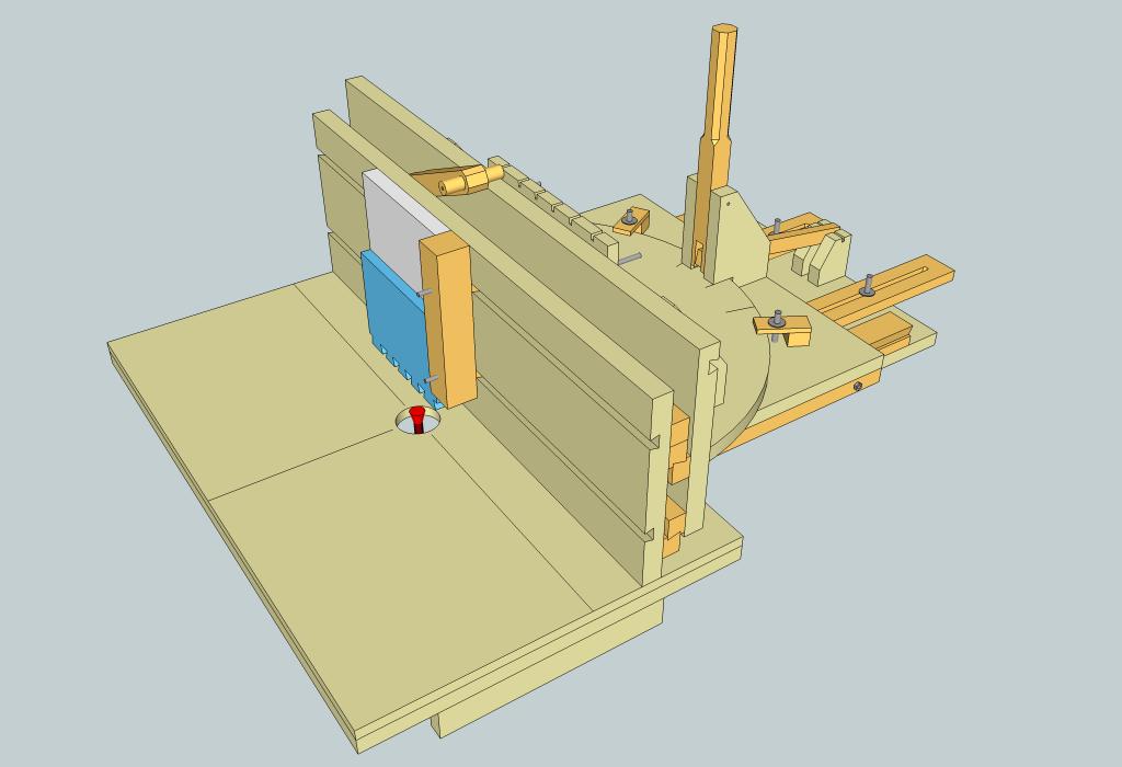 plan table de d fonceuse avec guide multiusages par zeloko sur l 39 air du bois. Black Bedroom Furniture Sets. Home Design Ideas