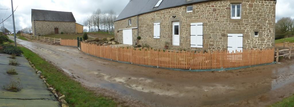 clôture bois jardin
