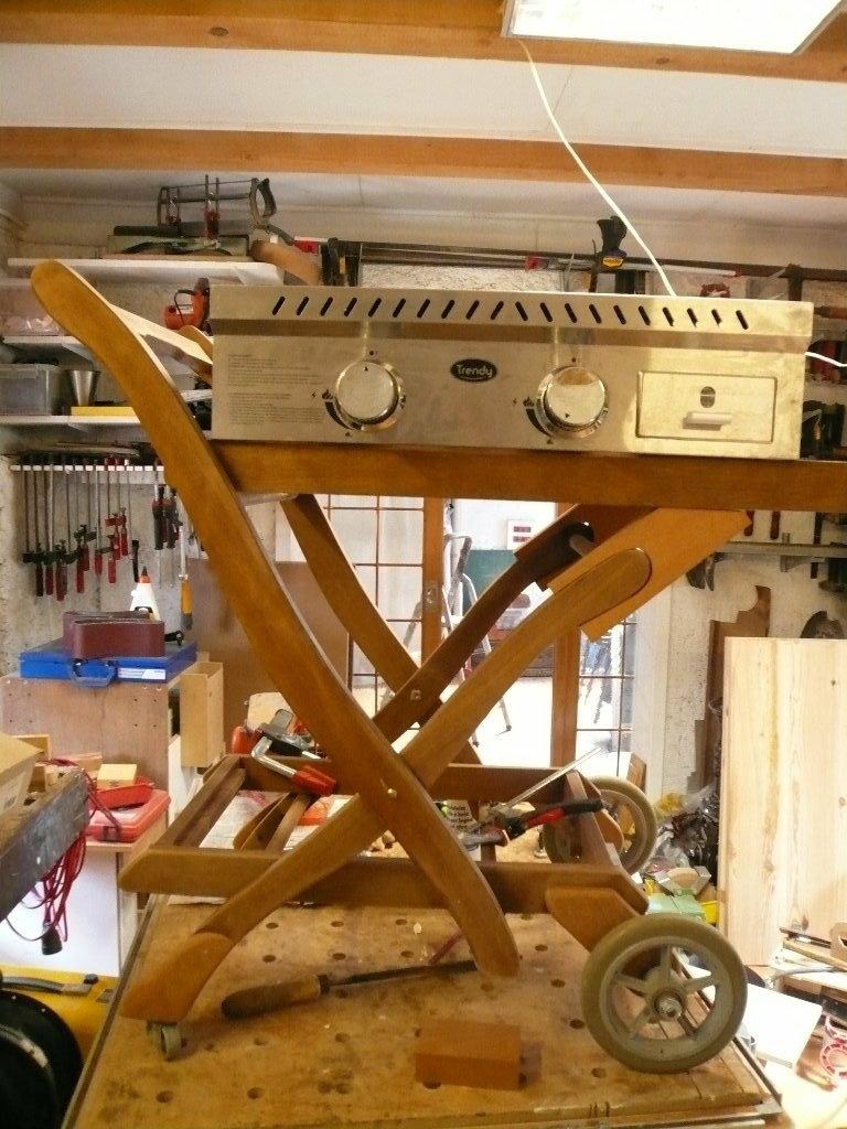 Support pour plancha par bene569 sur l 39 air du bois - Support pour couper du bois ...