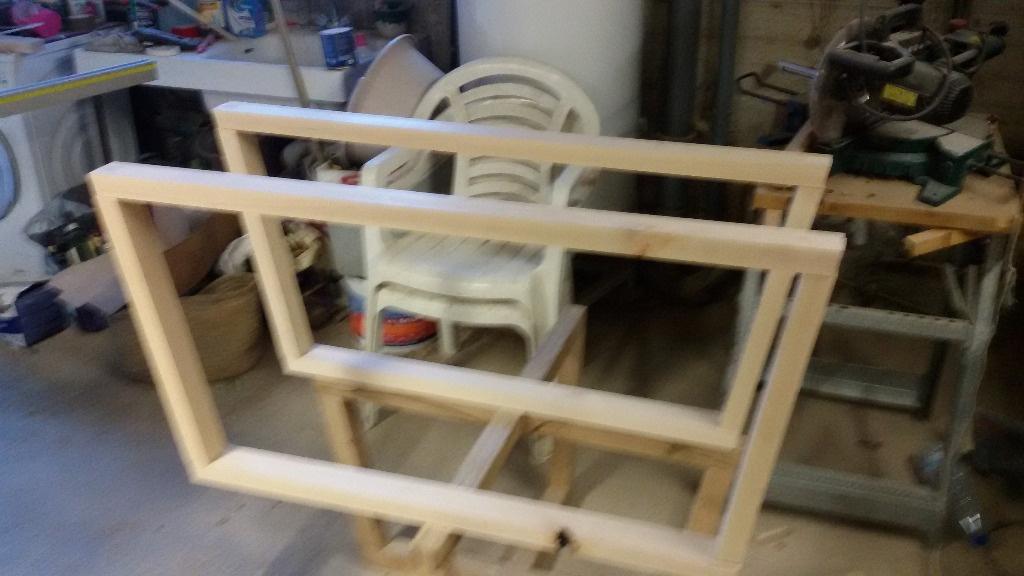 Meuble tv etagere verre par step sur l 39 air du bois - Fabriquer meuble mdf ...