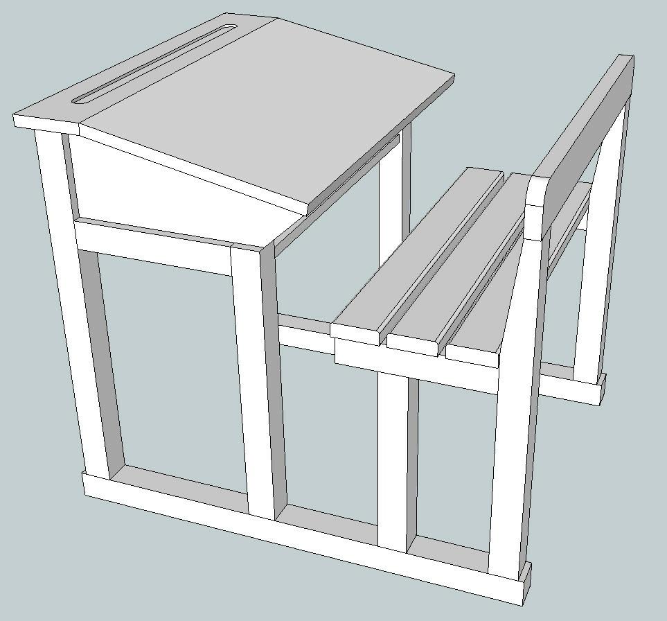 Plan bureau d 39 colier par jft68 sur l 39 air du bois - Plan de bureau en bois ...