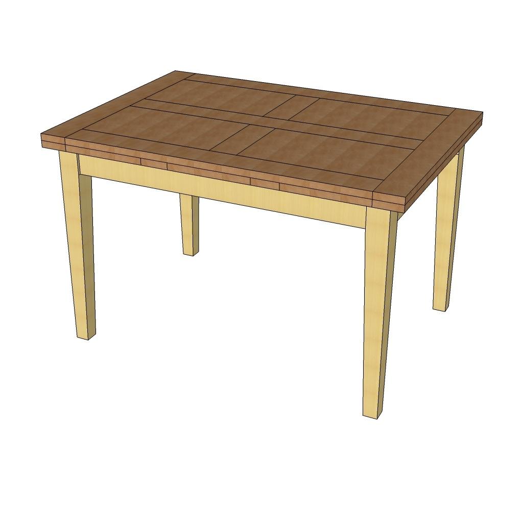 Plan table rallonges italiennes par yvanv sur l 39 air du - Table bois rallonges integrees ...