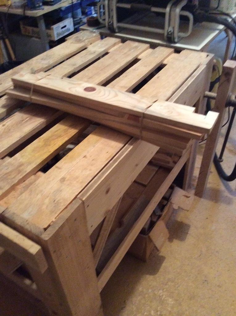 Des treteaux en bois de palette par davidpuech sur l 39 air du bois - Treteaux en bois ...